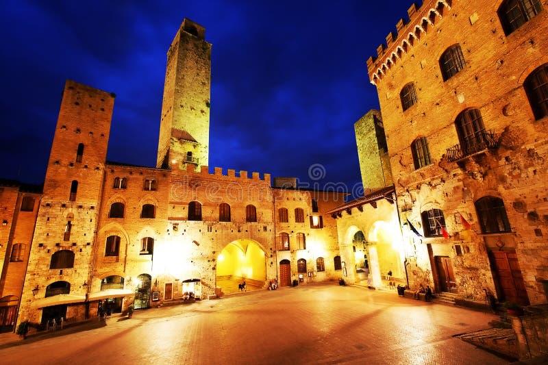 gimignano中世纪圣村庄 免版税库存照片