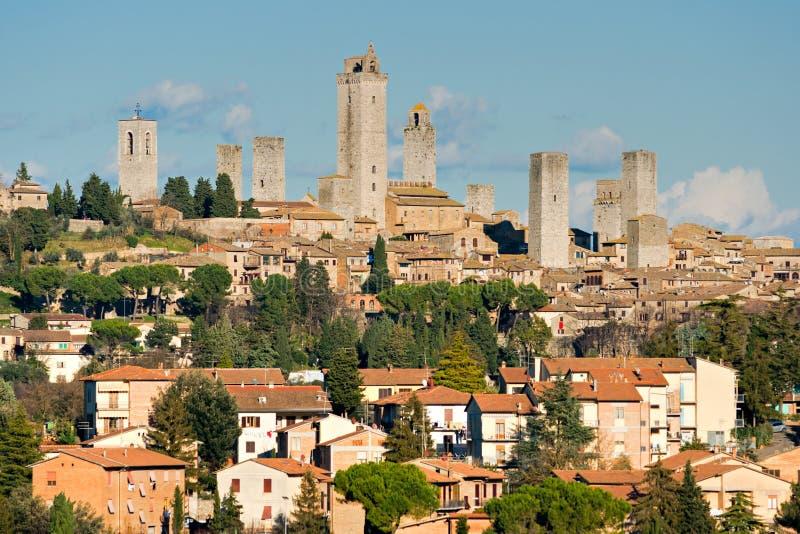 gimignano意大利圣・托斯卡纳视图 库存照片