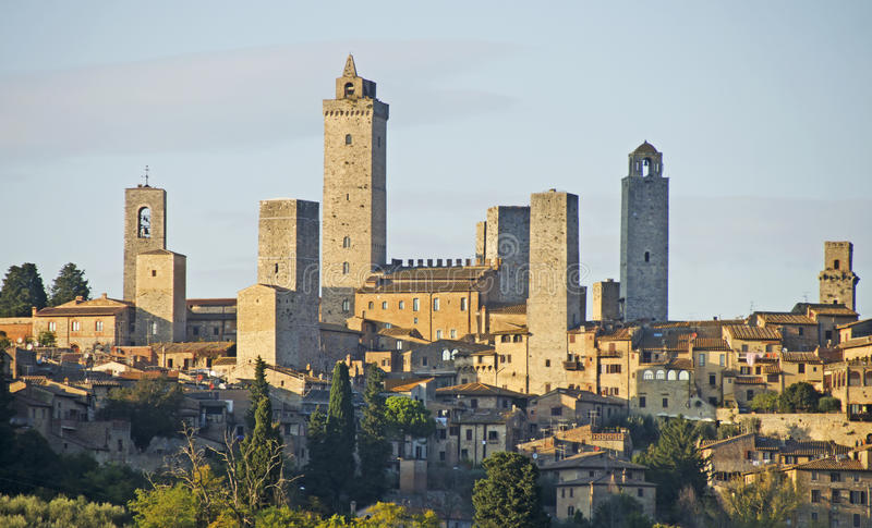 gimignano意大利圣・托斯卡纳 库存图片