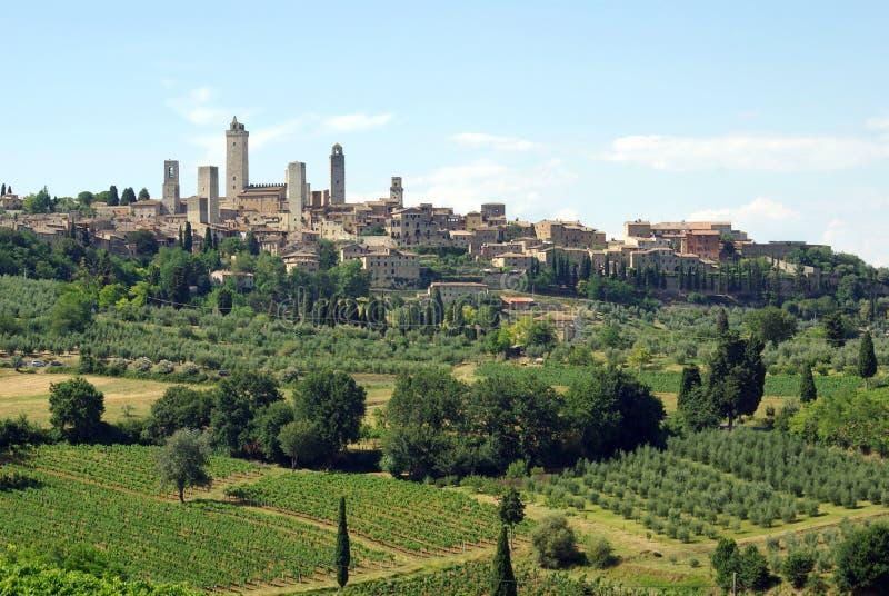 gimignano Ιταλία SAN Τοσκάνη στοκ φωτογραφίες με δικαίωμα ελεύθερης χρήσης