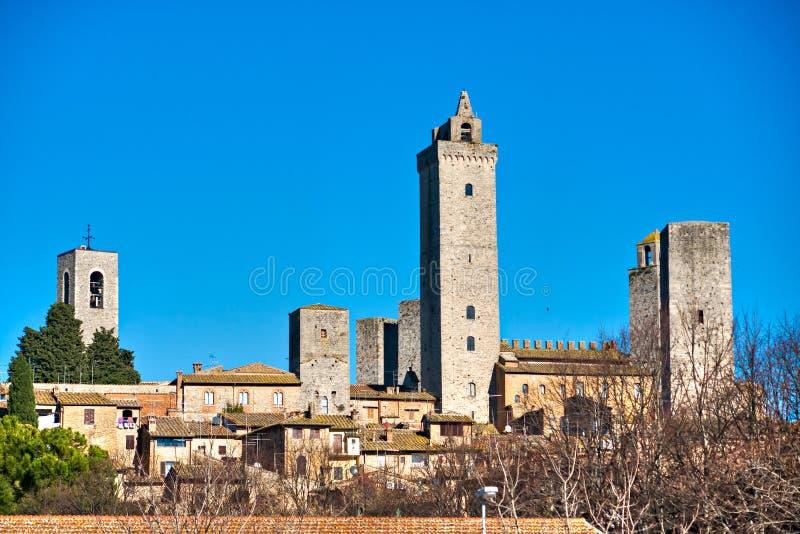 Gimignano del San, la Toscana, Italia. fotografie stock libere da diritti