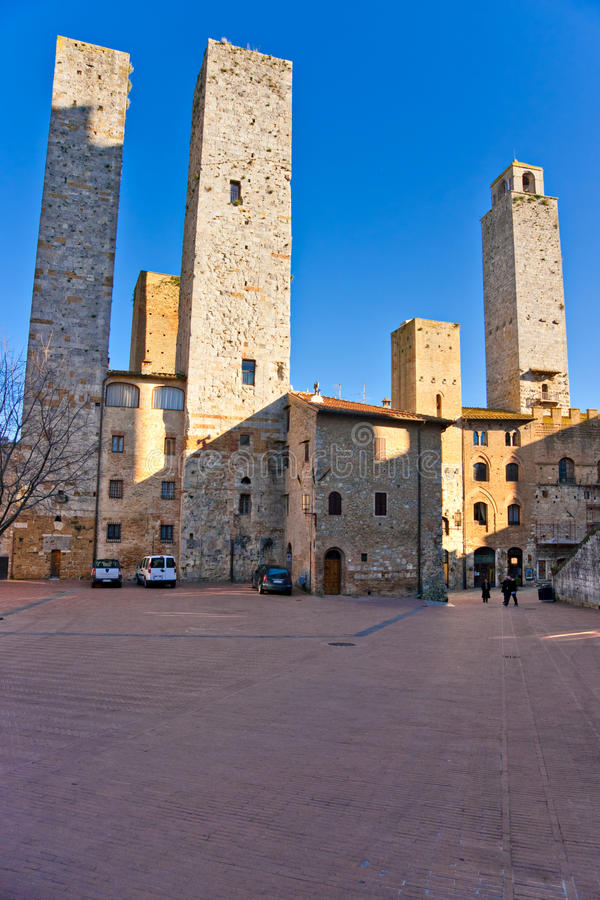 Gimignano del San, Toscana, Italia. fotografia stock libera da diritti