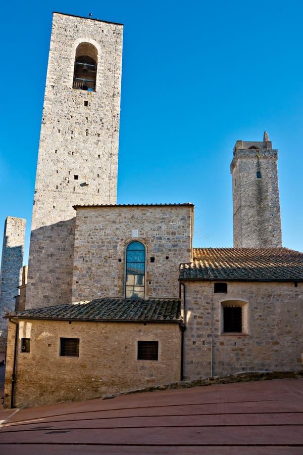 Gimignano del San, Toscana, Italia. immagini stock