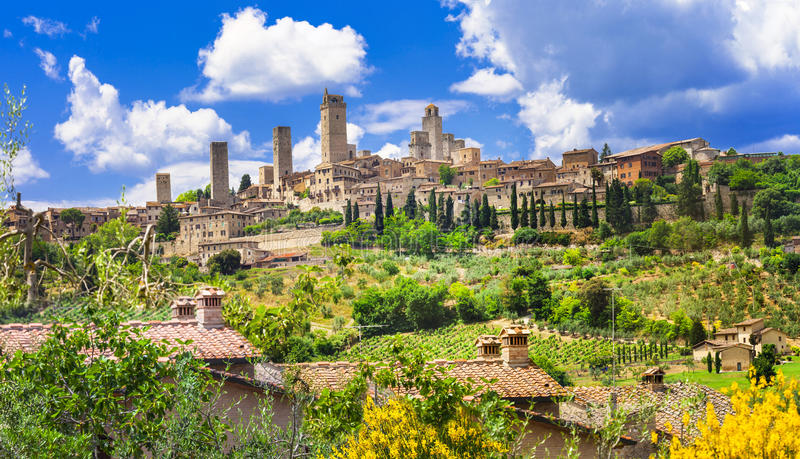 gimignano Italie san Toscane images libres de droits