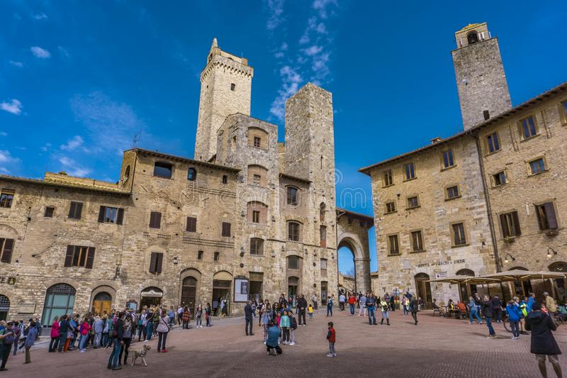 gimignano Italy San Tuscany obraz royalty free