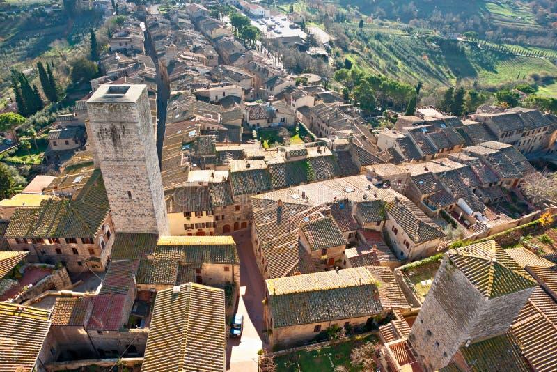 gimignano Italy San Tuscany fotografia royalty free