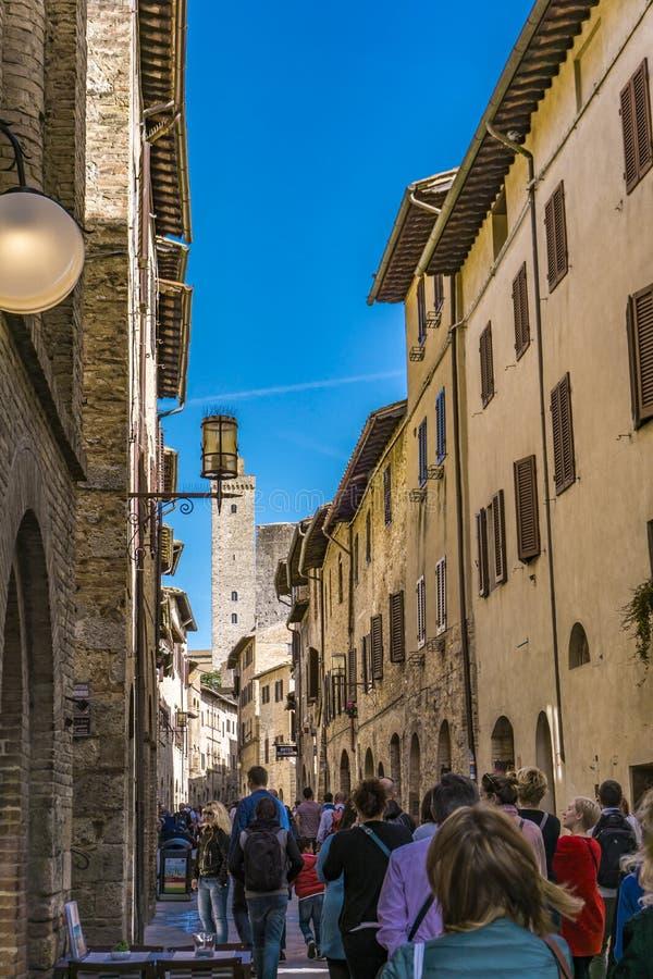 gimignano Italy San Tuscany obrazy stock