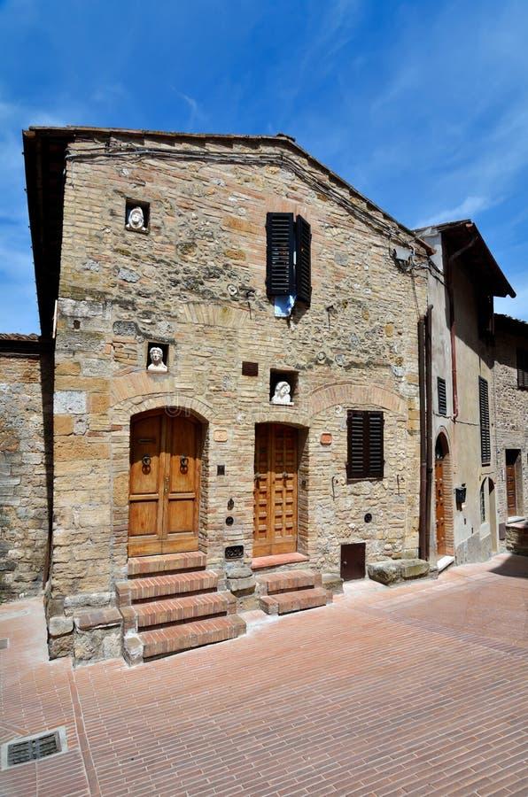 gimignanosan tuscany by royaltyfri bild