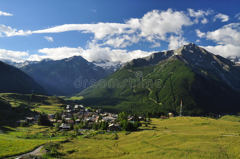 Cogne, Gimillan mountain village Aosta Valley. The mountain village of Gimillan, Cogne. Aosta Valley region (Valle d Aosta) Italy royalty free stock photo