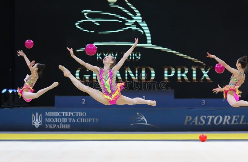 Gimnasia rítmica Grand Prix en Kiev, Ucrania fotografía de archivo libre de regalías