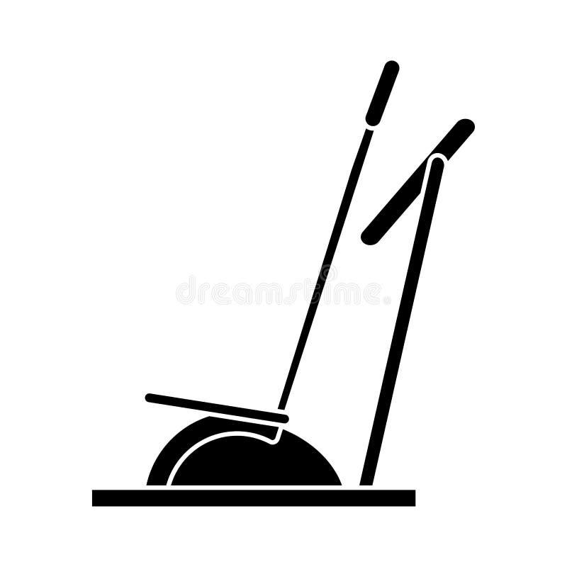 Gimnasio elíptico de la máquina del instructor del caminante de la silueta libre illustration