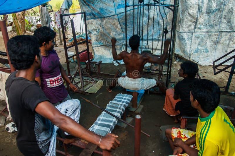 Gimnasio en Kerala - la India imagen de archivo