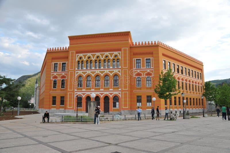Gimnasium de Mostar imagem de stock royalty free