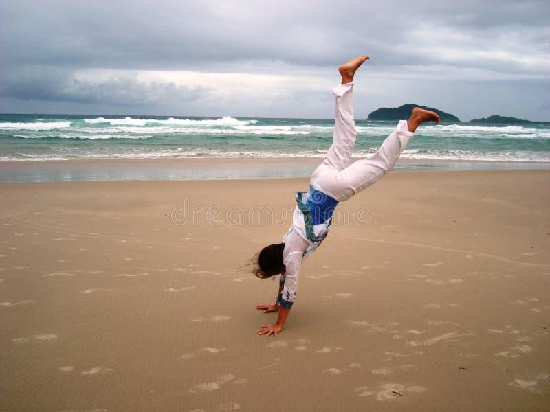 Gimnastics перед штормом 2 стоковое фото