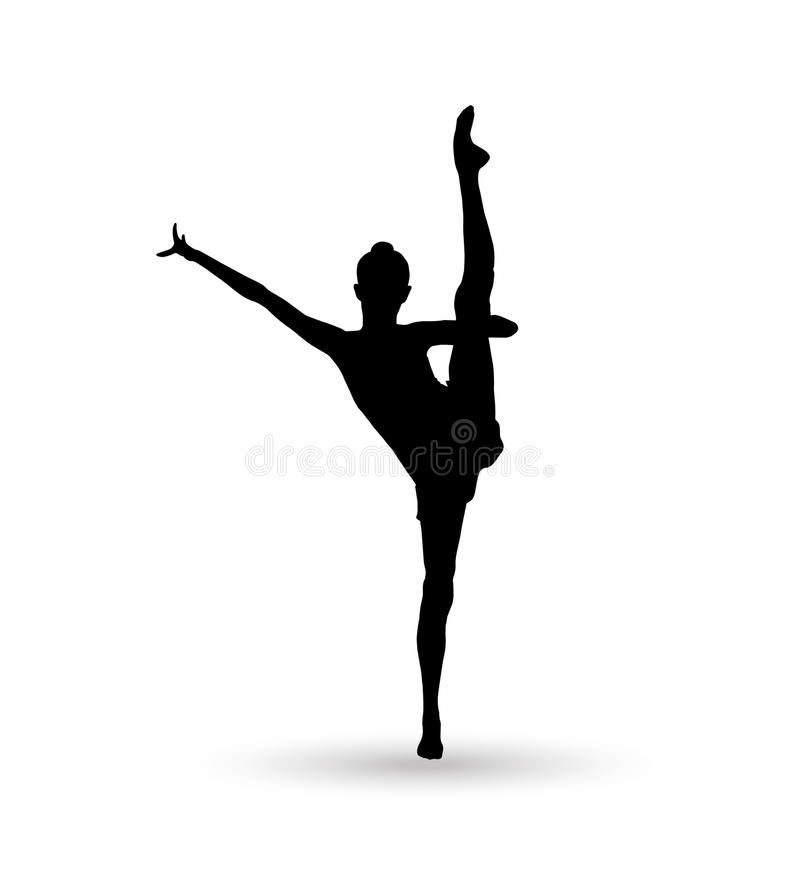 Gimnastyczki dziewczyna ilustracja wektor