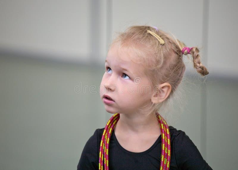 gimnastyczki portreta potomstwa fotografia stock