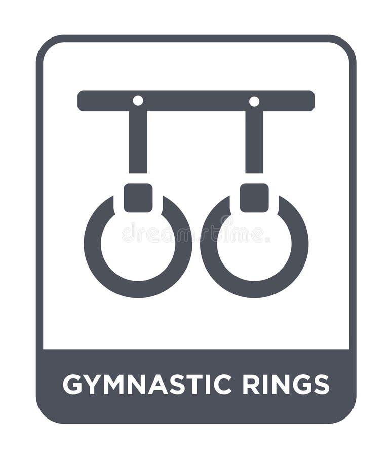 gimnastyczna pierścionek ikona w modnym projekta stylu gimnastyczna pierścionek ikona odizolowywająca na białym tle gimnastycznyc ilustracja wektor
