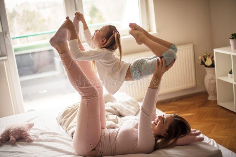 gimnastyczny ranek zdjęcie royalty free