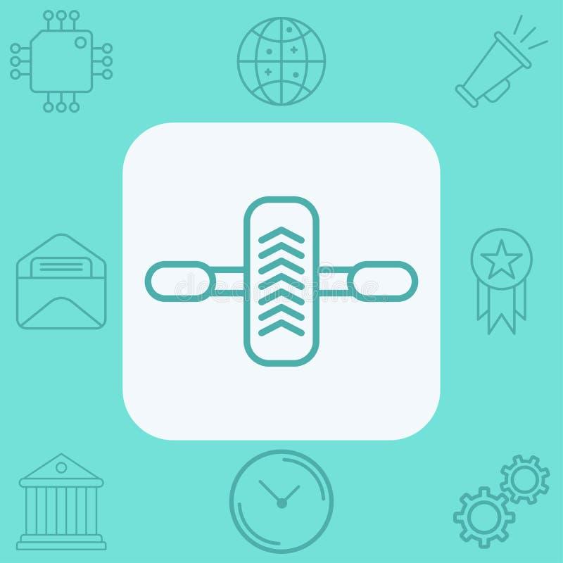 Gimnastyczny rolkowy ikona znaka symbol ilustracji
