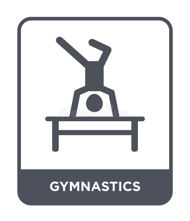 gimnastyki ikona w modnym projekta stylu gimnastyki ikona odizolowywająca na białym tle gimnastyki wektorowa ikona prosta i nowoż royalty ilustracja