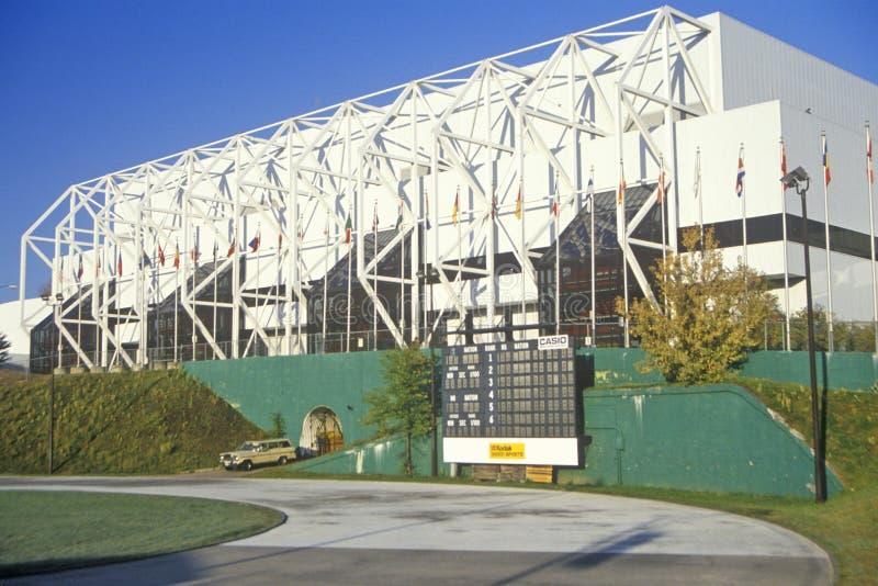 Ginásio no Lake Placid, NY, casa dos Olympics 1980 foto de stock