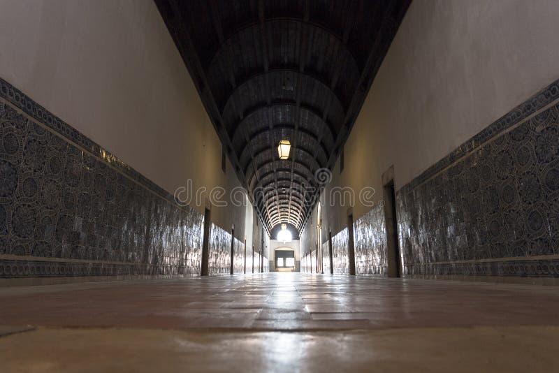 Ginący punkt korytarz Uroczysty dormitorium, dokąd michaelici żyli w surowych komórkach obraz stock