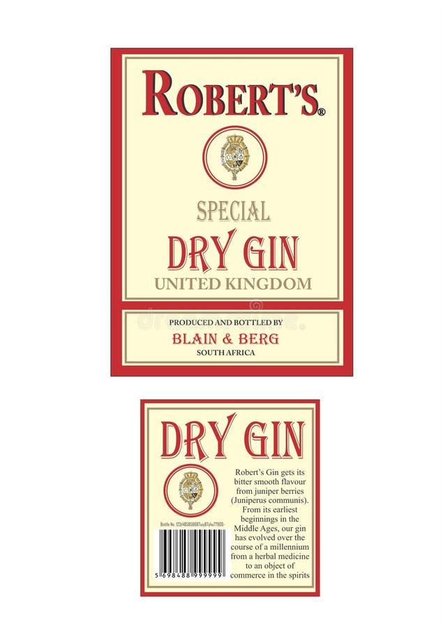 Gin asciutto immagine stock libera da diritti