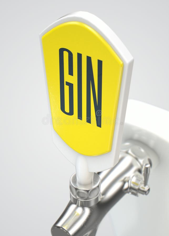 Gin Draught Spigot ilustração do vetor