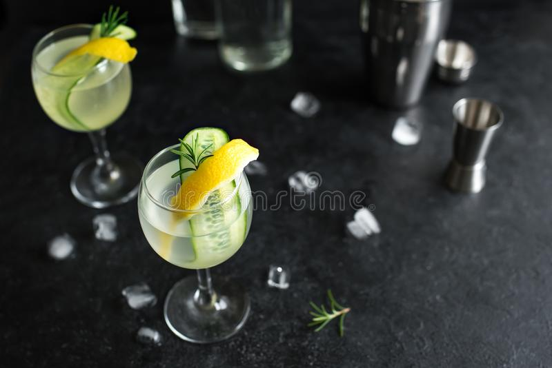Gin Fizz Cocktail stockfotografie