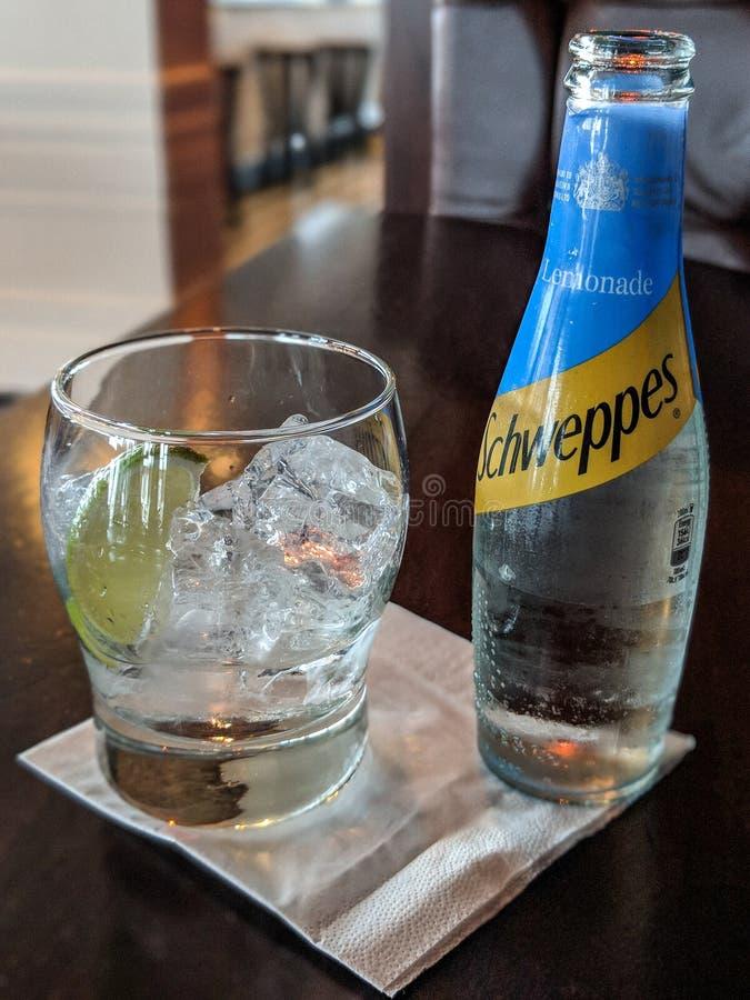 Gin & lemonade royalty free stock photo