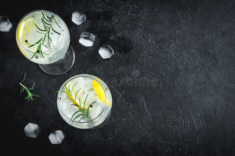 Gin- och uppiggningsmedelcoctail arkivbild