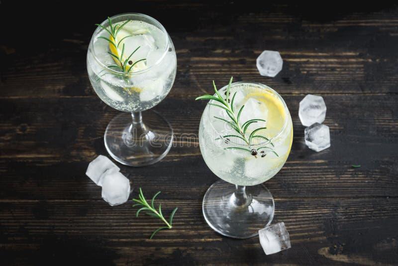Gin- och uppiggningsmedelcoctail arkivfoton