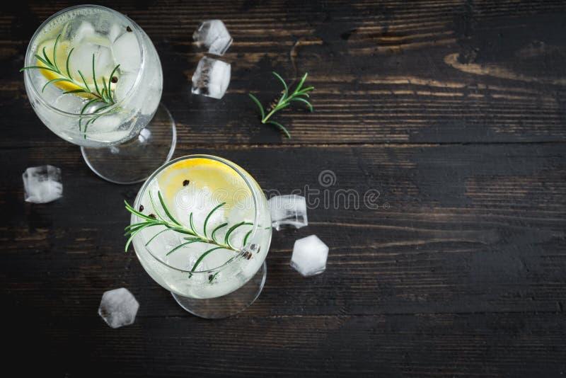 Gin- och uppiggningsmedelcoctail royaltyfria bilder