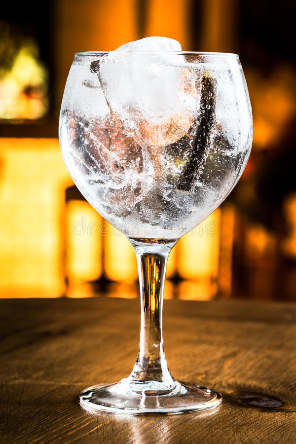 Gin tonic royaltyfria bilder