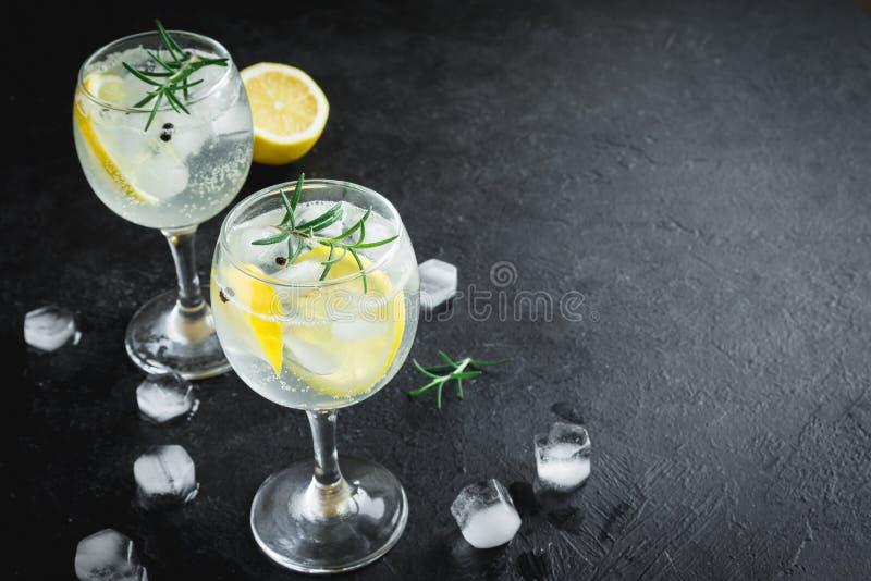 Gin Tonic-Cocktail lizenzfreie stockfotografie