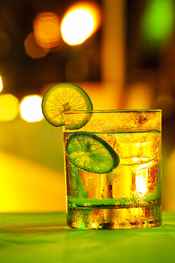 Gin tonic cocktail royalty free stock photography