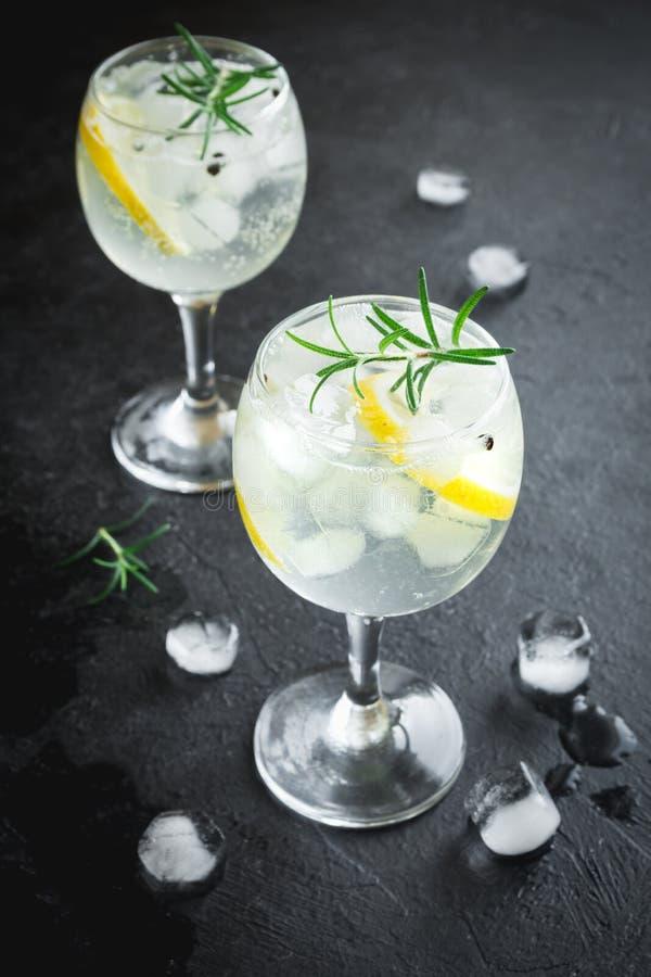 Gin and tonic cocktail stock photos