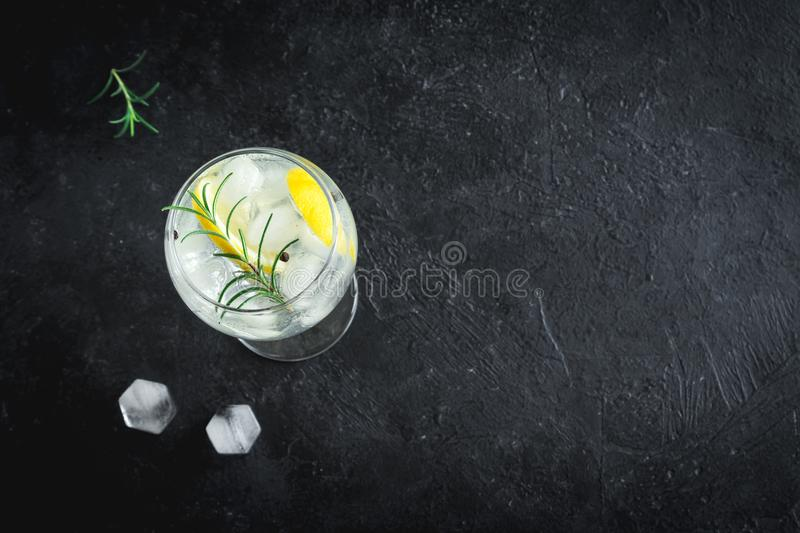Gin and tonic cocktail stock photo