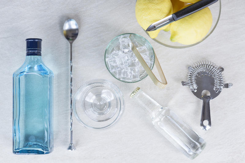 Gin tonic cocktail royalty free stock photo