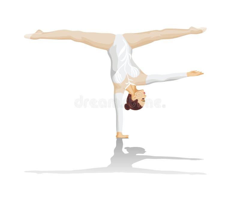 A ginasta ilustração royalty free