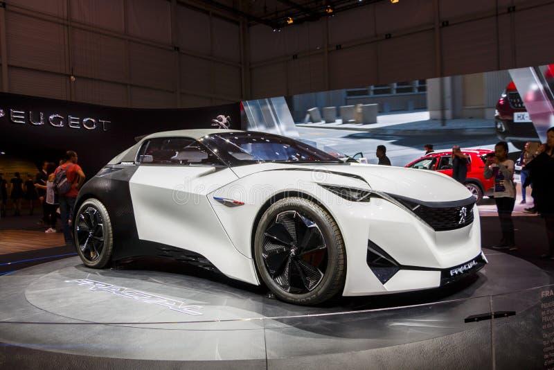 GINEBRA, SUIZA - MARZO DE 2016: Coche del concepto del fractal de Peugeot foto de archivo libre de regalías