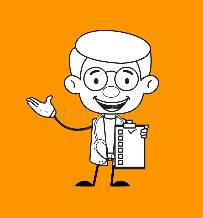 Ginekolog Doctor - Pokazywanie listy kontrolnej ilustracja wektor