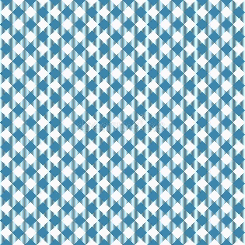 Gingang naadloos blauw patroon Tafelkledentextuur, plaidachtergrond Typografiegrafiek voor overhemd, kleren royalty-vrije illustratie