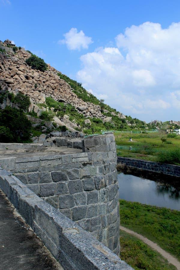 Gingee fortu ściana zdjęcie royalty free