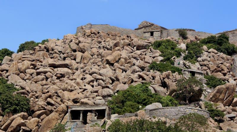 Gingee fortu wzgórze zdjęcia royalty free