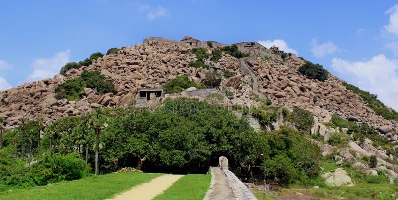 Gingee fortu wzgórze obraz stock