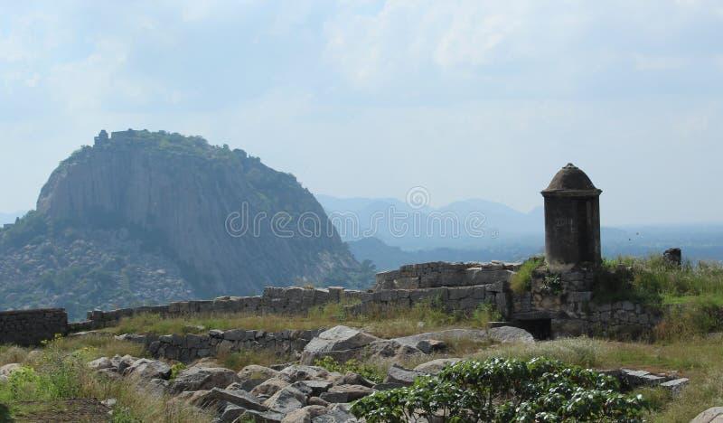 Gingee fortu wzgórze zdjęcie royalty free
