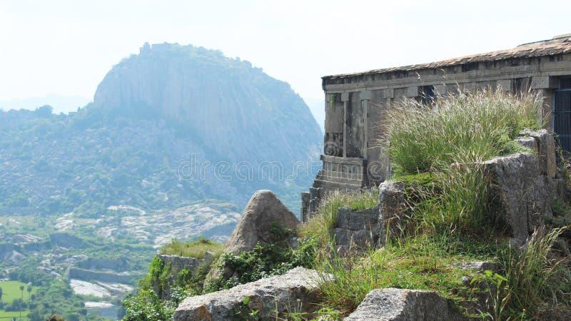 Gingee fortu wzgórze zdjęcia stock