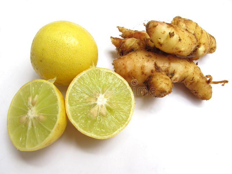 Gingembre et citrons photographie stock