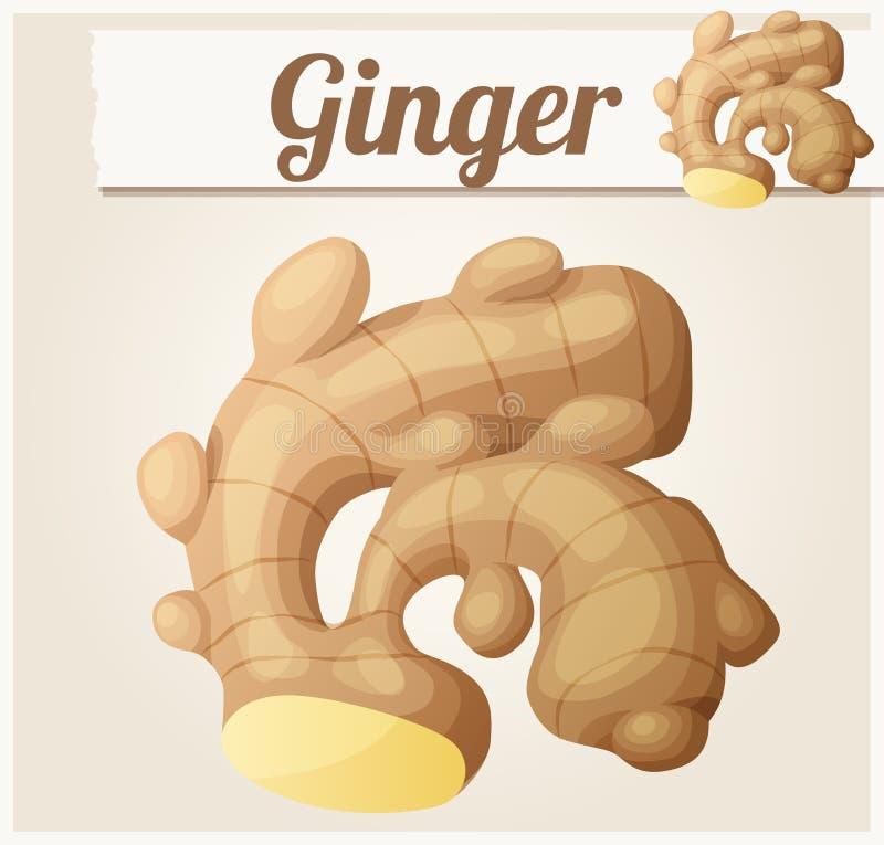 ginger ilustração stock